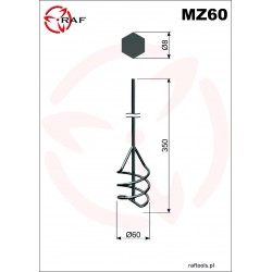 Mieszadło do zapraw MZ60