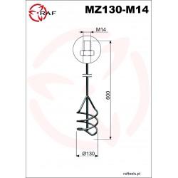 Mieszadło do zapraw MZ130-M14