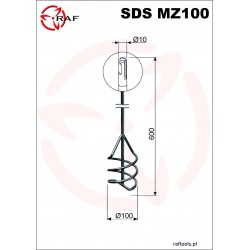 Mieszadło do zapraw SDS MZ100